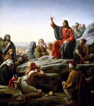 BLOCH, Carl Heinrich The Sermon On the Mount 1877 Oil on copper, 104 x 92 cm Frederiksborg Slot, Hillerød